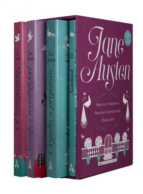 Estuche - Jane Austen: mejores títulos + notebook