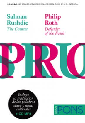 """Colección Read & Listen - Salman Rushdie """"The courter""""/Philip Roth """"Defender of the faith""""+ mp3"""