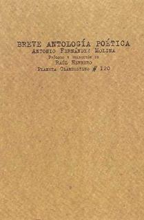 BREVE ANTOLOGIA POETICA/A. FERNANDEZ MOLINA
