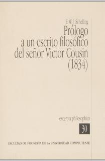 Prólogo a un escrito filosófico del señor Victor Cousin (1834)