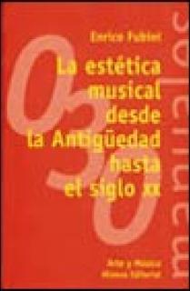 LA ESTÉTICA MUSICAL DESDE LA ANTIGÜEDAD HASTA EL SIGLO XX