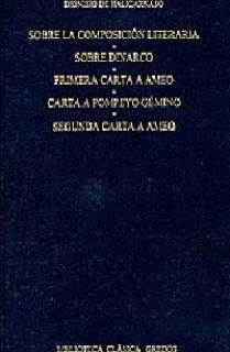 Sobre la composicion literaria. Dinarco