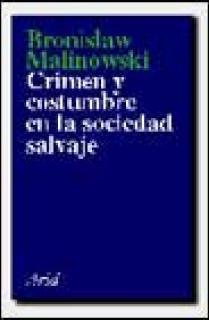 CRIMEN Y COSTUMBRE EN LA SOCIEDAD SALVAJE