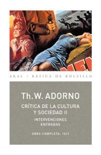 Crítica de la cultura y sociedad II