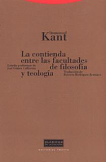 La contienda entre las facultades de filosofía y teología