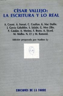 César Vallejo: la escritura y lo real