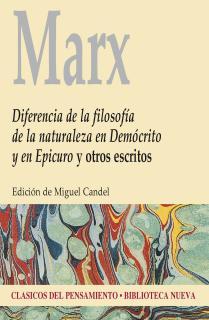Diferencia de la filosofía de la naturaleza en Demócrito y en Epicuro y otros escritos