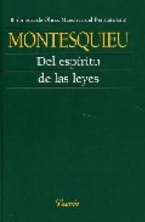 DEL ESPIRITU DE LAS LEYES