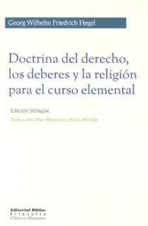 DOCTRINA DEL DERECHO, LOS DEBERES Y LA RELIGIÓN PARA EL CURSO ELEMENTAL