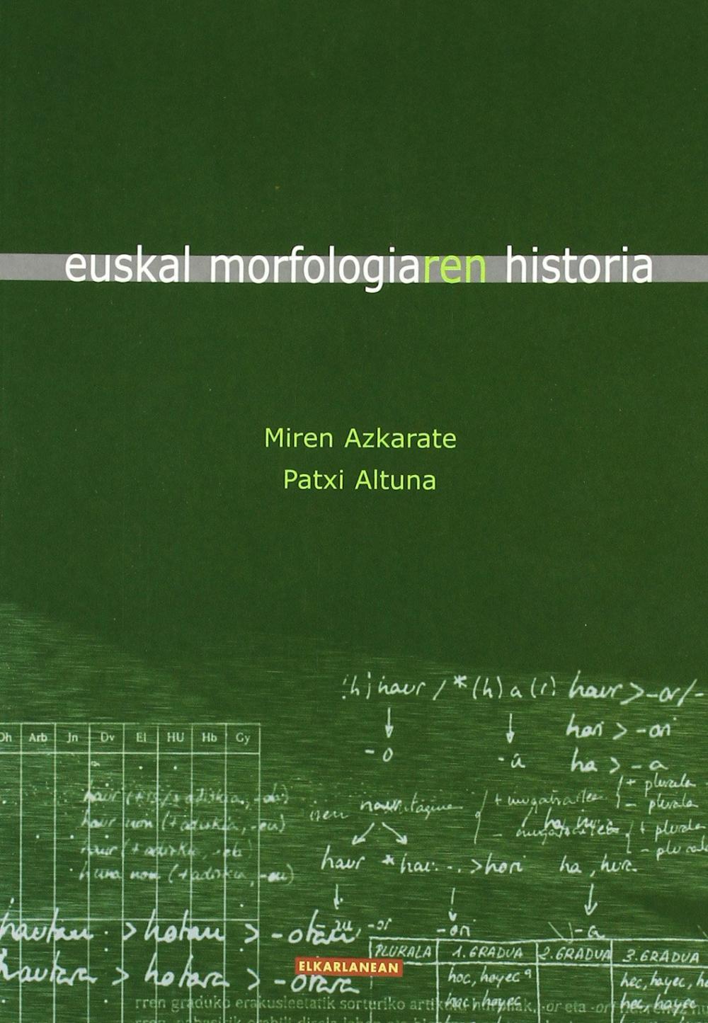 Euskal morfologiaren historia