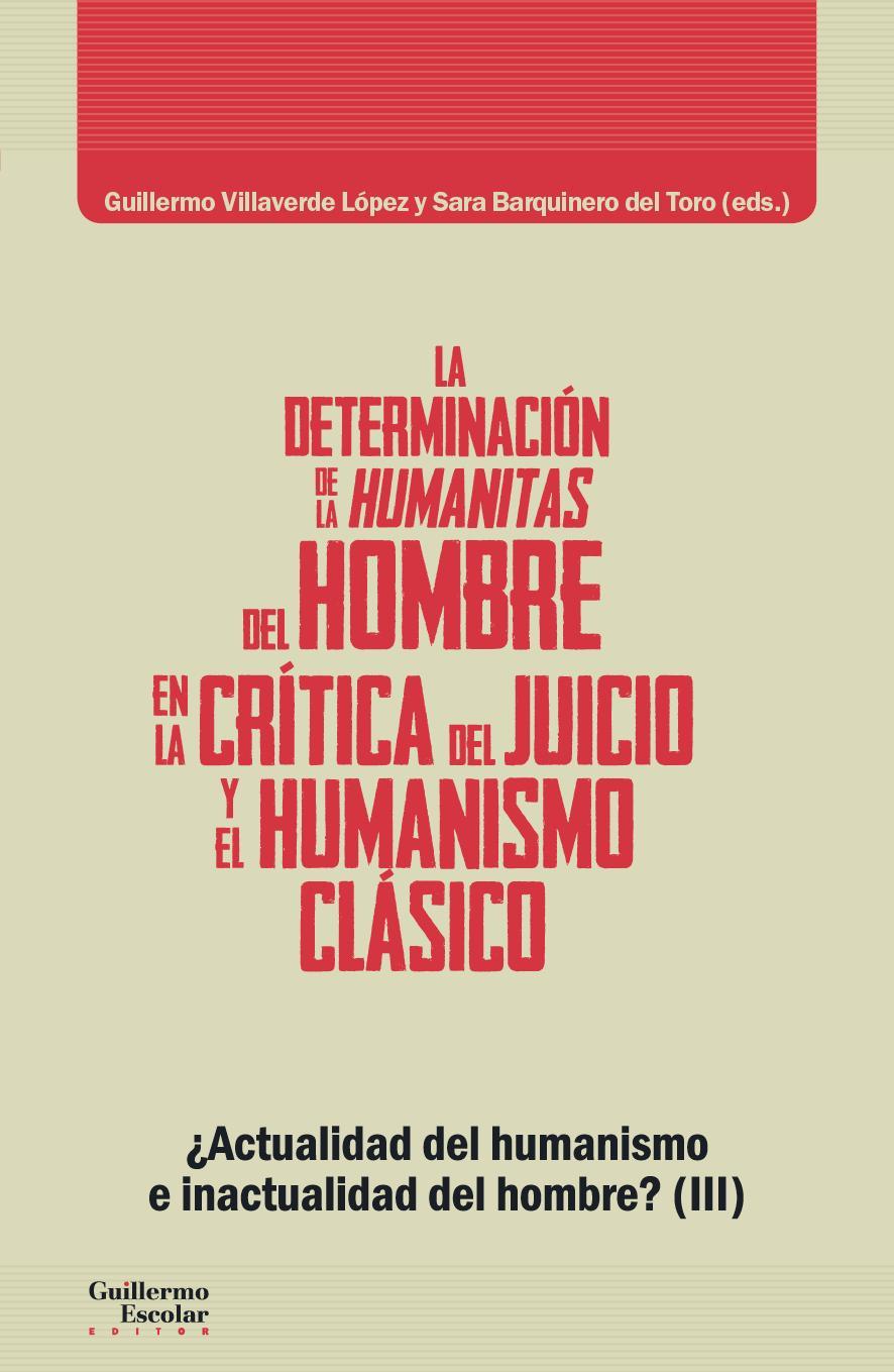 La determinación de la humanitas del hombre en la Crítica del Juicio y en el humanismo clásico