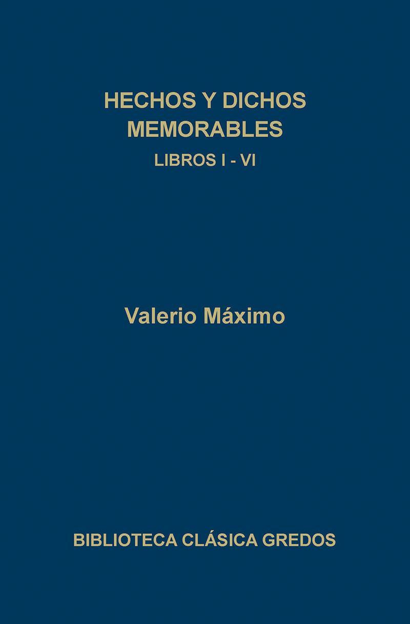 311. Hechos y dichos memorables. Libros I-VI
