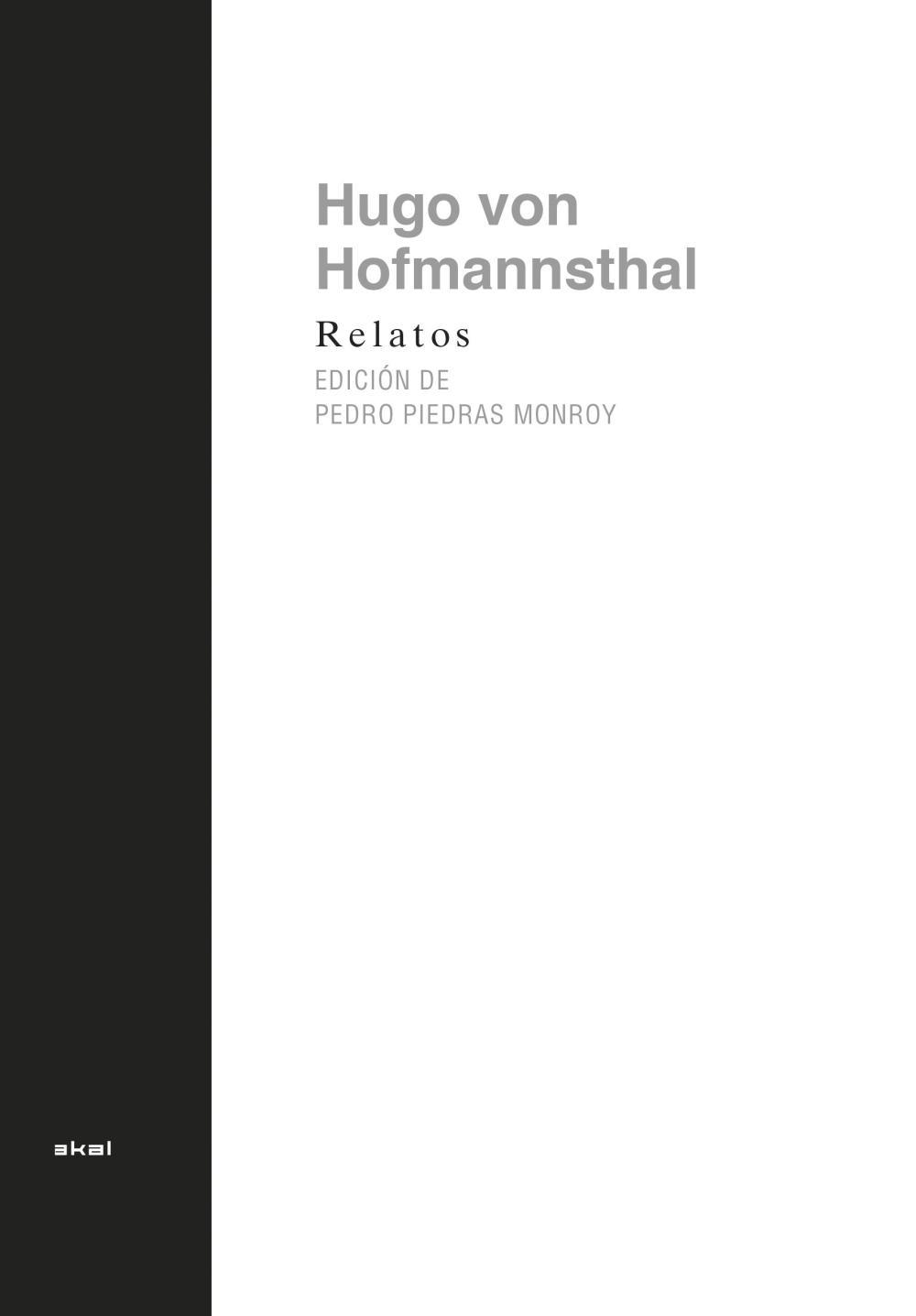 Relatos de Hofmannsthal