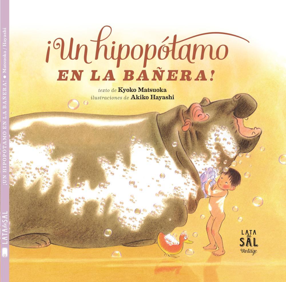 ¡Un hipopótamo en la bañera!