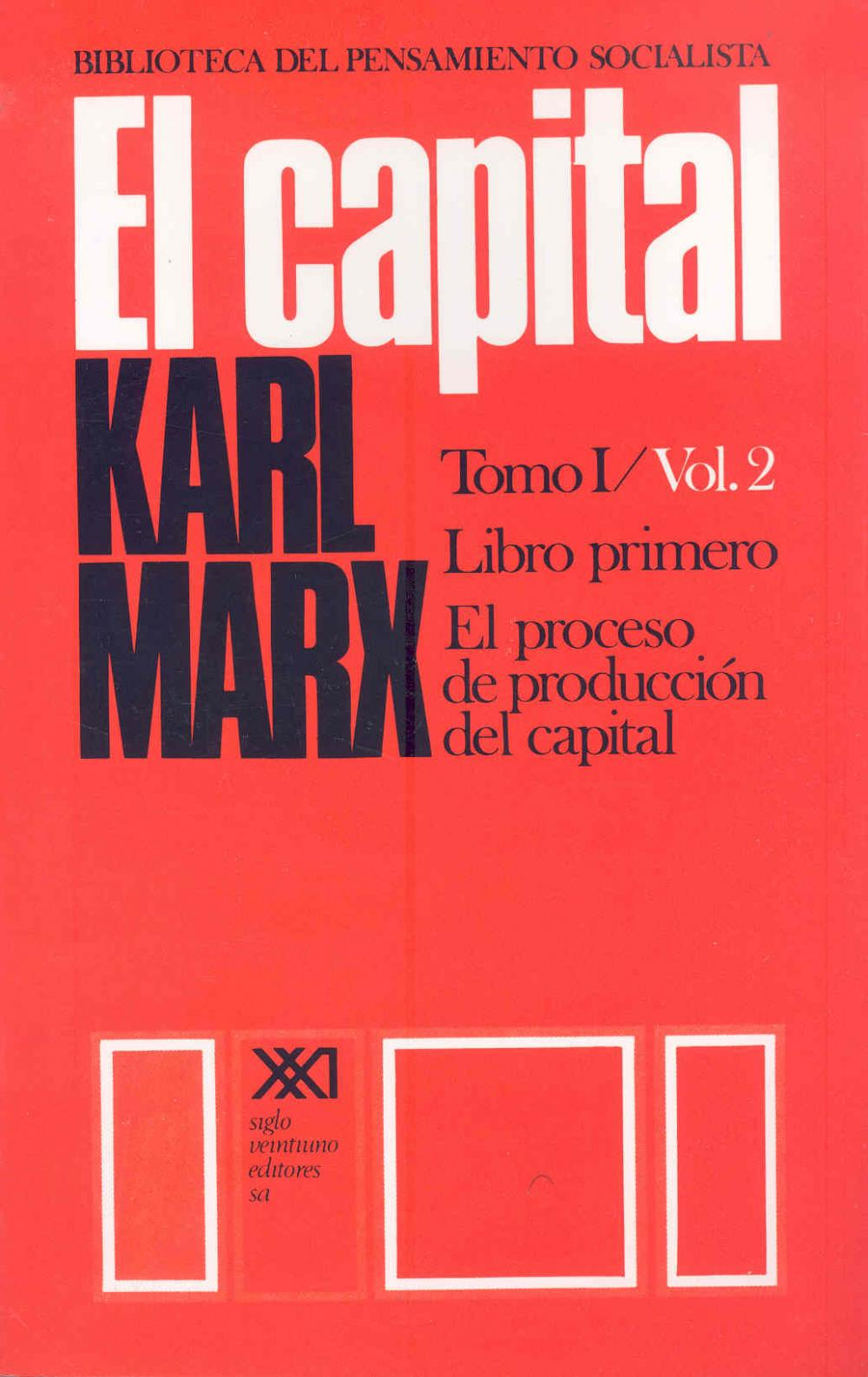 El capital. Tomo I/Vol. 2
