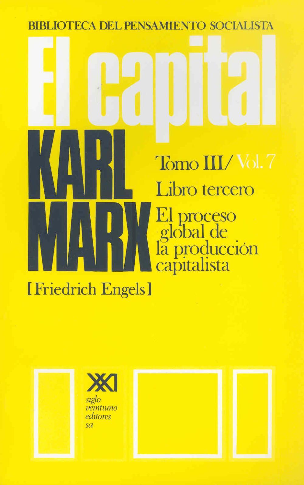 El Capital. Tomo III/Vol. 7